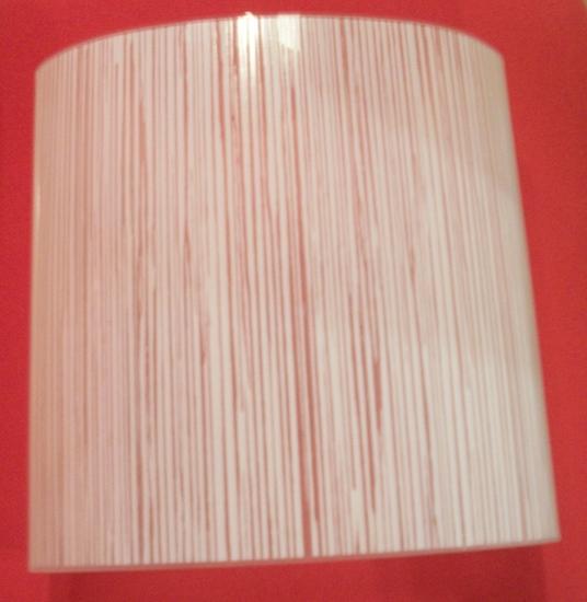 Immagine di Applique Da Parete In Vetro Bianco Rigato