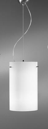 Immagine di Lampada A Sospensione Per Interno In Vetro Bianco