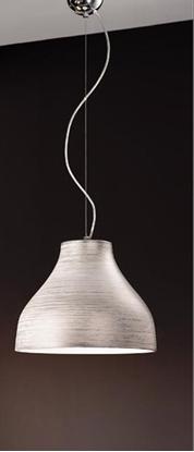 Immagine di Sospensione In Vetro Decorato Argento