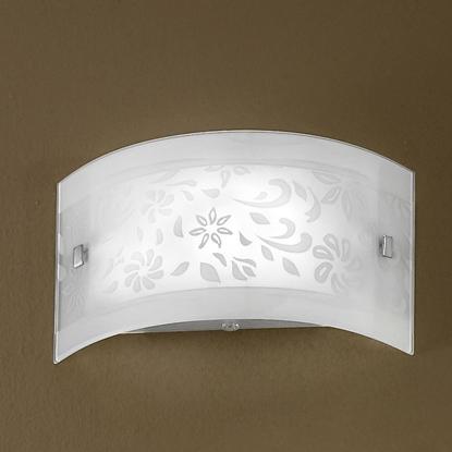 Immagine di Applique Da Parete In Vetro Bianco Decorato