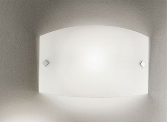 Applique da parete per interno in vetro bianco. bime ingrosso e