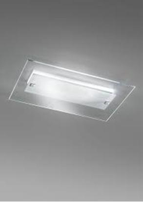 Immagine di Plafoniera Led Da Soffitto In Vetro Cristallo
