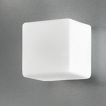 Immagine di Cubo In Vetro Bianco Da Parete O Soffitto