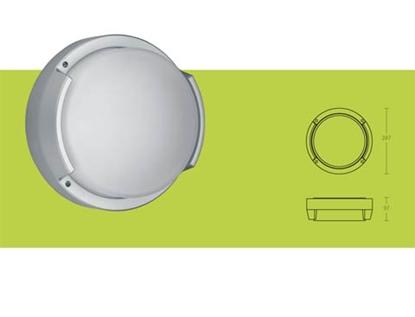 Picture of Plafoniera Per Esterno In Vetro E Metallo Bianco