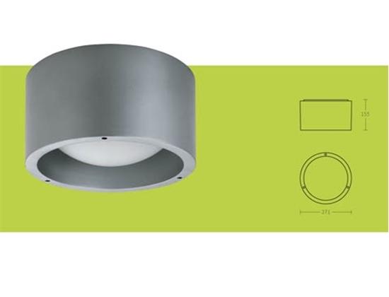 Philips mygarden applique da esterno acciaio spazzolato e