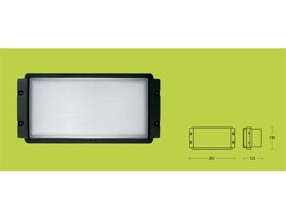 Picture of Applique Per Esterno Vetro E Alluminio