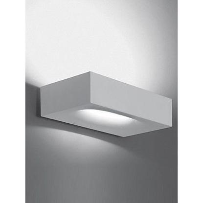 Immagine di Applique Da Parete Dquadrato In Metallo Bianco