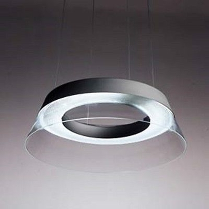 Immagine di Lampada A Sospensione Per Interni In Vetro E Alluminio