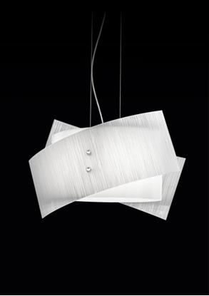 Immagine di Lampada A Sospensione Con Vetro Satinato E Decorato