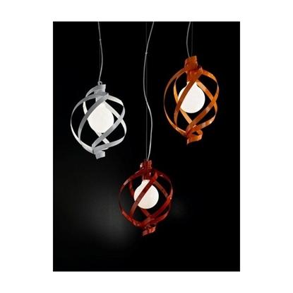 Immagine di Lampada A Sospensione In Metallo Rosso