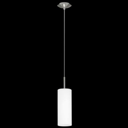 Immagine di Cilindro A Sospensione In Vetro Satinato Bianco -85977-