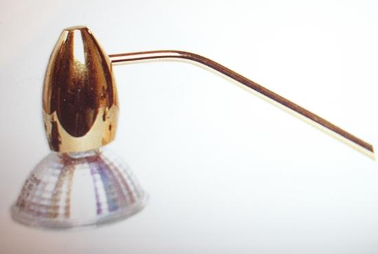 Applique microsurf led di artemide oro metallo applique