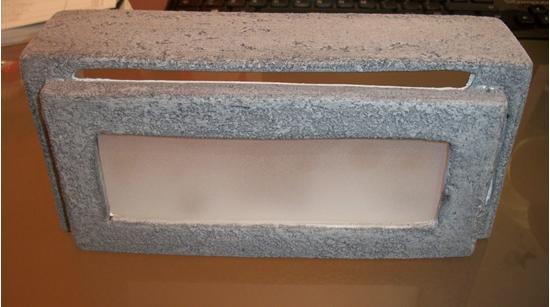 Applique da parete in gesso di colore grigio bime ingrosso e