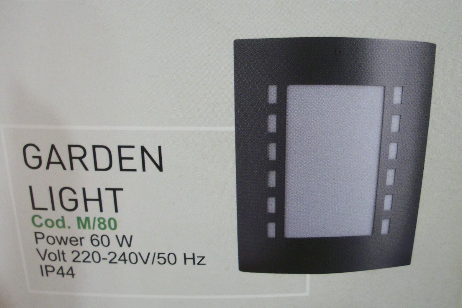 Lampada applique da esterno colore rame antichizzato