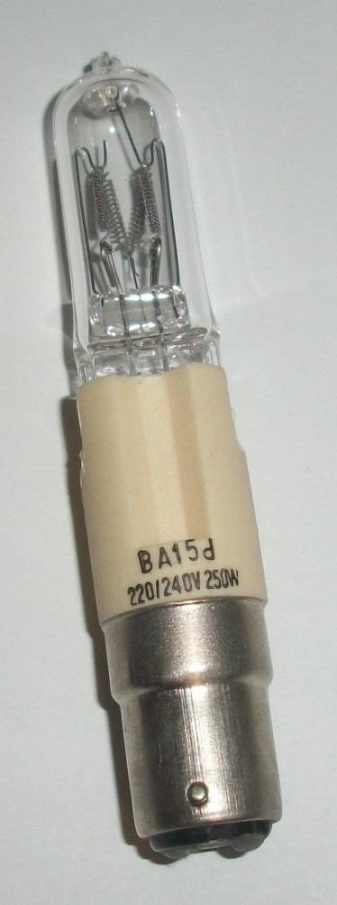 Lampada alogena tubolare con attacco ba15d a baionetta for Lampada alogena