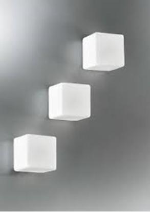 Picture of Cubo In Vetro Bianco Da Parete O Soffitto -5120.11-