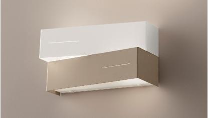 Immagine di Applique Per Interno In Metallo Bianco/tortora
