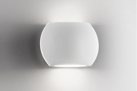 Applique da parete per interno in alluminio di colore bianco opaco