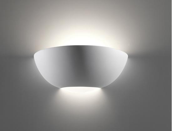 Applique in ceramica con diffusore in vetro per interno belfiore