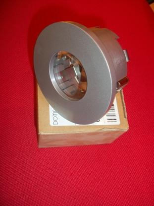 Immagine di Faretto Da Incasso Per Cartongesso A Soffito In Metallo Verniciato Grigio Con Vetro Tasparente Domino -670403-