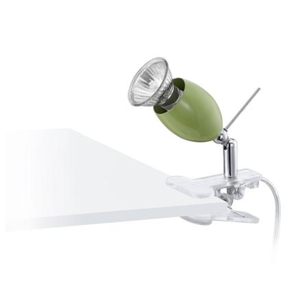 Immagine di Spot Orientabile Con Pinza Da Tavolo Di Colore Verde Eglo -92094-
