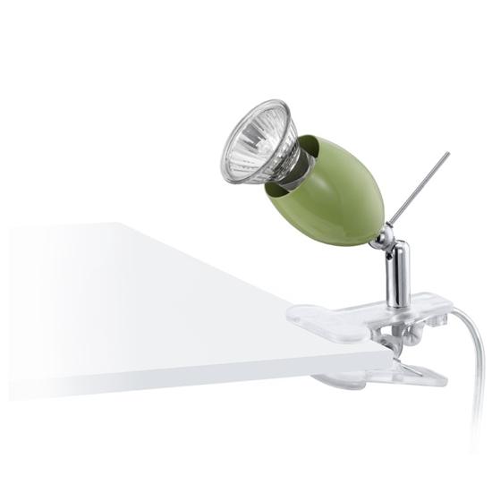 Spot orientabile con pinza da tavolo di colore verde eglo 92094 bime ingrosso e dettaglio - Lampada da tavolo con pinza ...