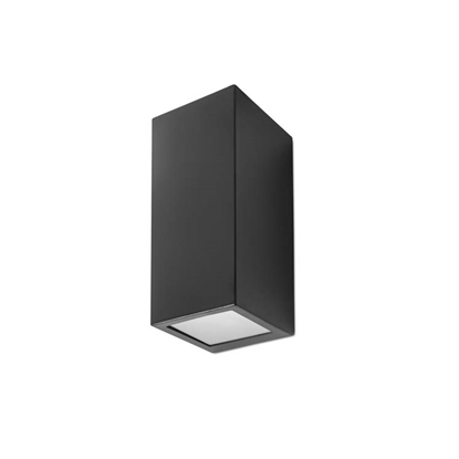 Immagine di Applique Per Esterno Da Parete In Alluminio Verniciato Nero Forlight -px0056neg-