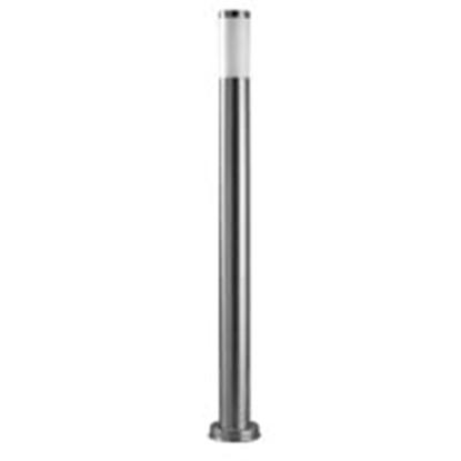 Immagine di Palo Per Esterno In Alluminio Verniciato Acciaio Satinato Con Diffusore In Policarbonato Forlight -px0100ino-