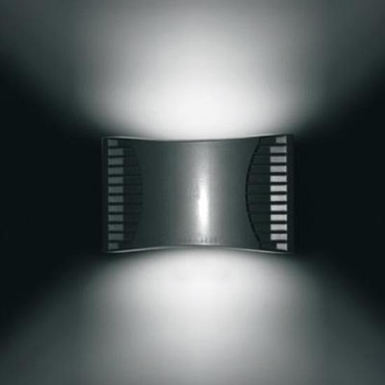 Immagine di Applique Per Esterno A Parete In Alluminio Pressofuso Di Colore Grigio Alluminio Francesconi -f70524-