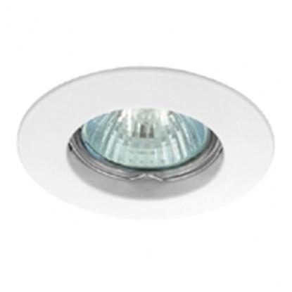 Immagine di Faretto Ad Incasso Con Anello In Alluminio Pressofuso Bianco Genex -100gu10-