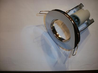 Immagine di Faretto Ad Incasso Con Anello In Alluminio Pressofuso Di Colore Acciaio Lucido Genex -fix1501cromato-