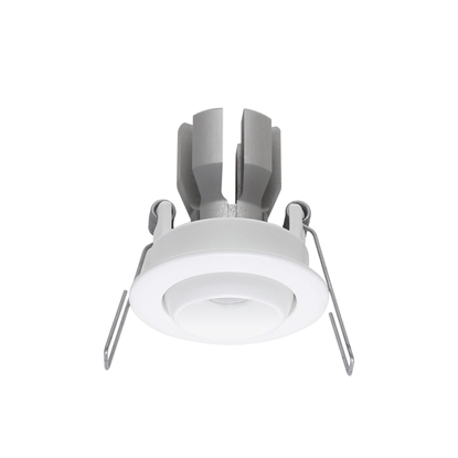 Immagine di Faretto Da Incasso A Soffitto Orientabile In Alluminio Verniciato Bianco Con Effetto Spazzolato Ilèd -97402n30-