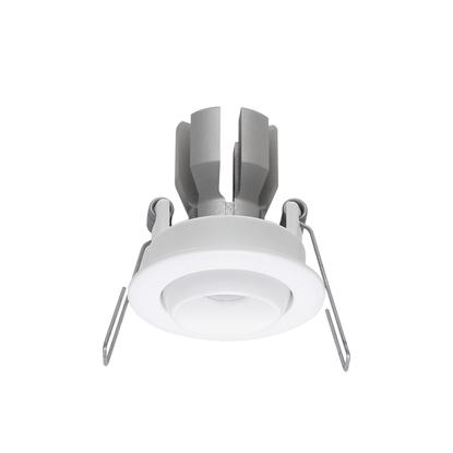 Immagine di Faretto Da Incasso A Soffitto Orientabile In Alluminio Verniciato Bianco Con Effetto Spazzolato Ilèd -97402w15-