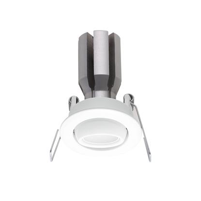 Picture of Faretto Da Incasso A Soffitto Orientabile In Alluminio Verniciato Bianco Con Effetto Spazzolato Ilèd -97404n15-