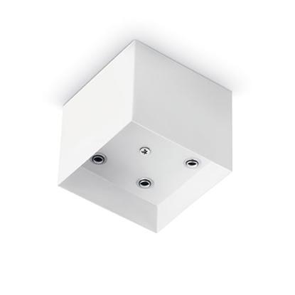 Picture of Rosone A Luce Multipla, In Metallo Verniciato Bianco Dala Forma Squadrata Ideal-lux -138053-