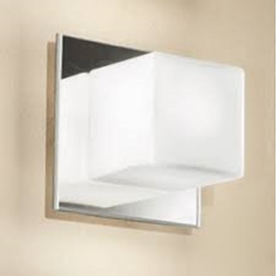 Immagine di Cubic Applique Per Interno Acciaio E Vetro