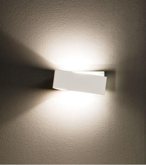 Picture of Zig Zag Applique Per Interni Moderno Di Colore Bianco