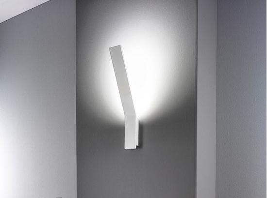 Lama applique per interni moderno di colore bianco bime