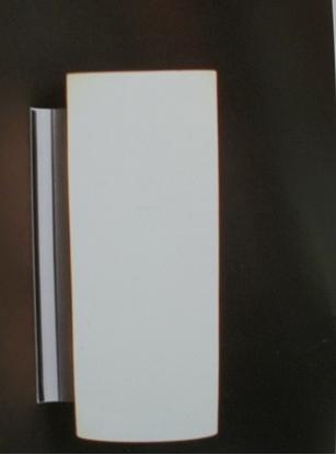 Immagine di Applique In Vetro Bianco Tubolare (mc Luce)
