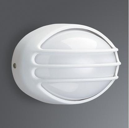 Immagine di Applique Per Esterno Con Griglia Bianco
