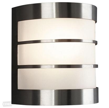 Immagine di Applique Per Esterno In Acciaio Satinato C/griglie