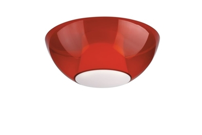 Immagine di Plafoniera Per Interno In Plastica Rossa E27