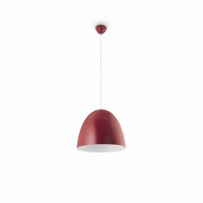 Immagine di Sospensione Per Interni In Metallo Rossa E27
