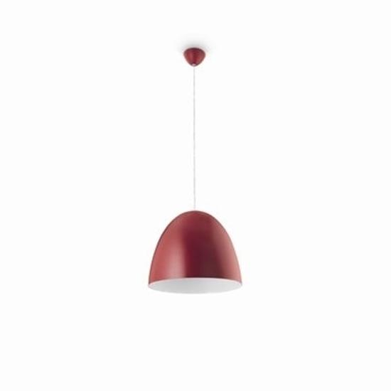 Picture of Sospensione Per Interni In Metallo Rossa E27