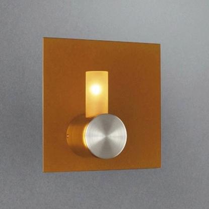 Immagine di Applique Per Interno In Vetro Color Arancione