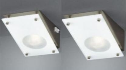 Picture of Lampada Sottopensile 45° In Acciaiol Satinato+vetro