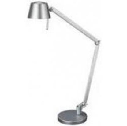Immagine di Lampada Da Tavolo In Alluminio Spazzolato Snodabile