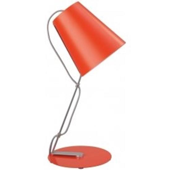 Picture of Lampada Da Tavolo In Metallo E Plastica Arancione