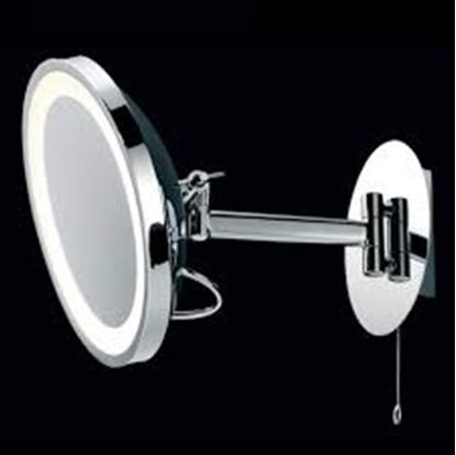 Immagine di Specchio Da Bagno Con Luce Cromo Lucido