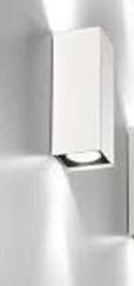 Immagine di Applique Da Parete Squadrato Colore Bianco  Luce Diretta - Indiretta